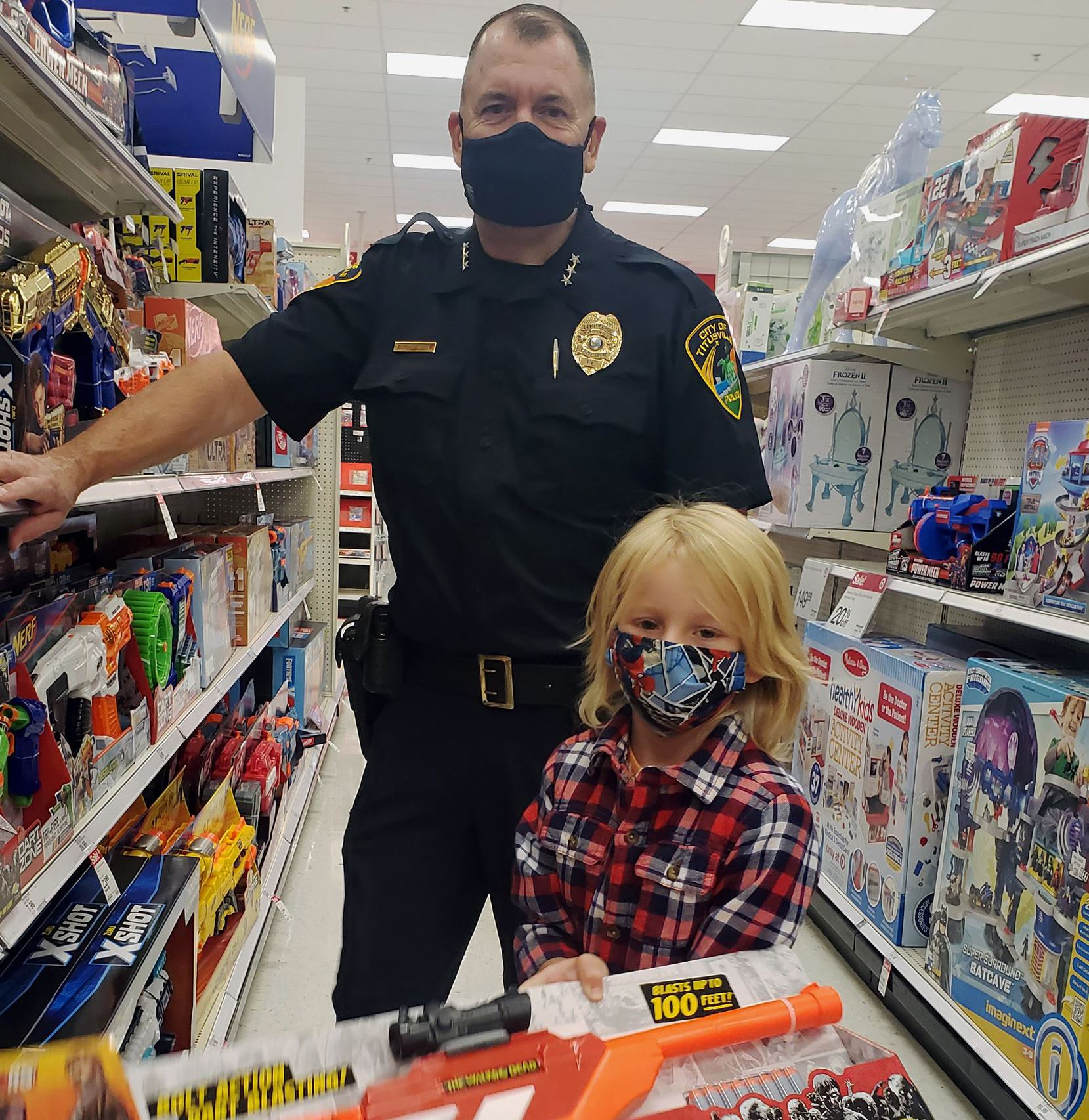 TPD Officer at Shop with a Cop event