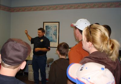 Water Reclamation Employee Providing a Tour