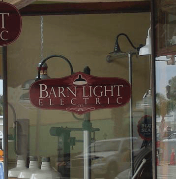 Barn Light Electric Window Sign