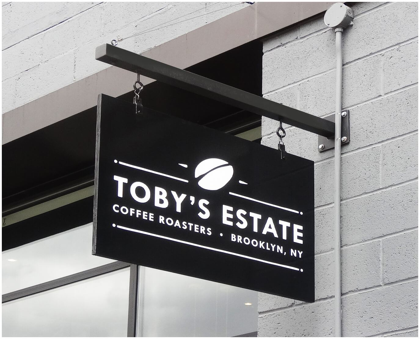 Toby's Estate Blade Sign