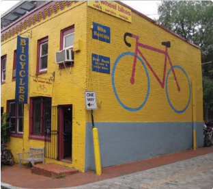 Bicycle Mural and Banner Sign