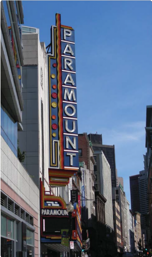 Paramount Marquee Sign with LED Lights