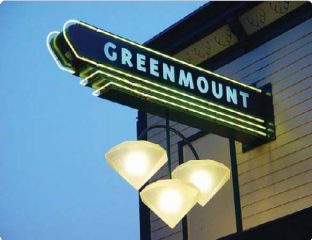 Greenmount Marquee Sign