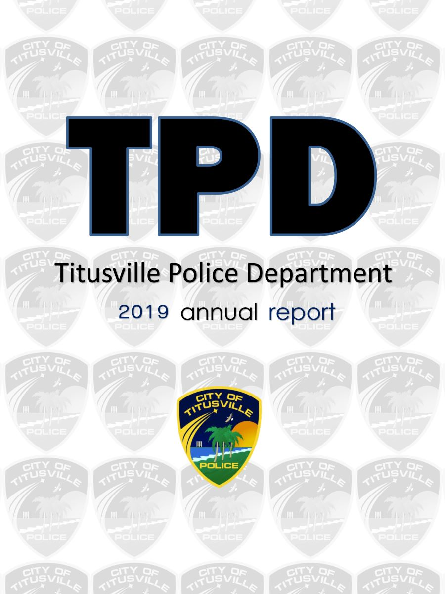 Titusville Police Department 2019 Annual Report Cover
