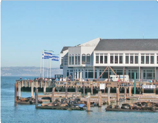 Pier with Building in the Background